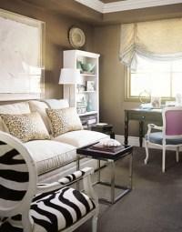Modern cocoa brown living room: Benjamin Moore 'Shenandoah ...