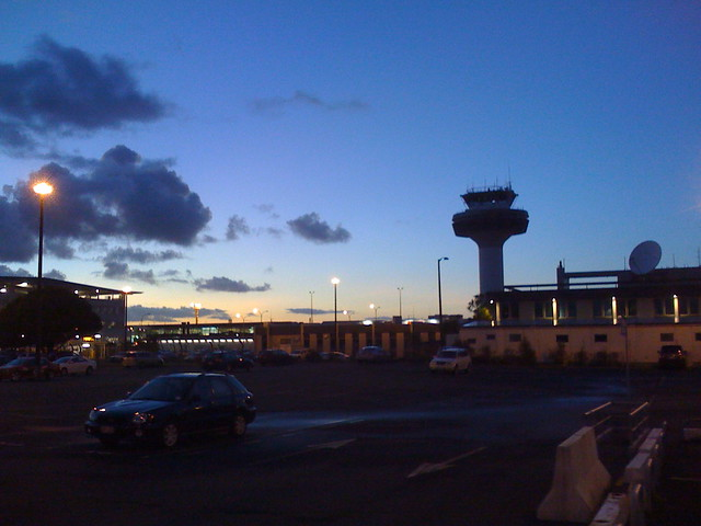 Sunrise at the Auckland airport