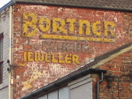 Bortner old painted sign, Redcar