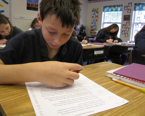 Photo: CDS Student Testing