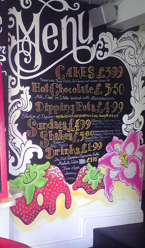 Menu at Choccywoccydoodah cafe