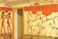 Ancient Greek wall painting postcard - a photo on Flickriver