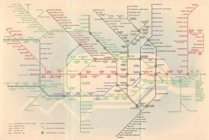 London Underground map  London tube diagram 1938  a
