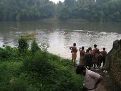 Chengannur river bath 2