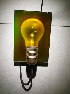 A hologram of a lightbulb