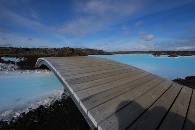 Bridge at the Blue Lagoon in Iceland