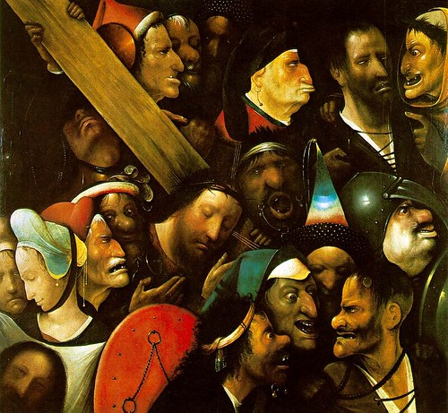 Bosch, Christ Carrying the Cross (1490), oil on panel