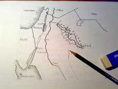 Transjordan - Map drawing