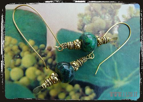 Orecchni crisocolla verdi - Green crysocolla earrings IGCRISOR