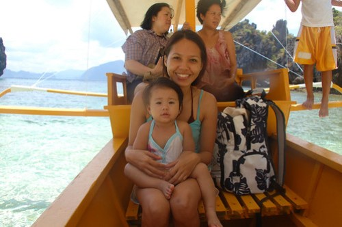 Lia and her Mama on the Geographic 2, El Nido, Palawan