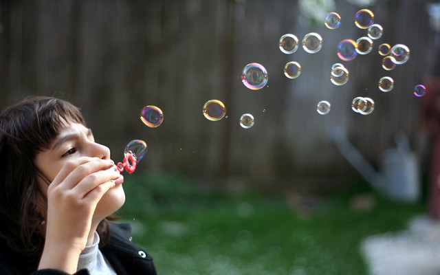 Cute Little Girl Playing Bubble Wallpaper Children Playing With Bubbles