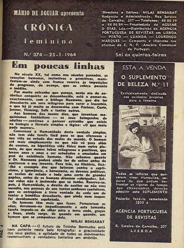 Crónica Feminina, No. 374, January 23 1964 - 3 by Gatochy