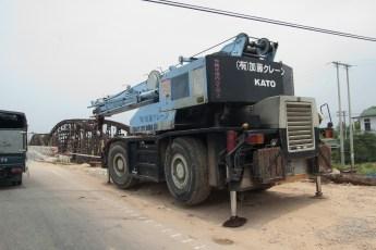 Kranfahrzeug für Brückenbau