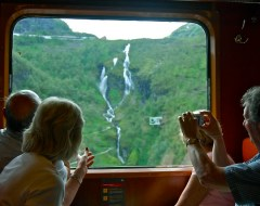 Tourist - Train to Flam - Norway Fjords