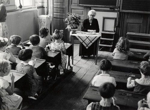 Schoolklas begin jaren '50 / Dutch classroom around 1950