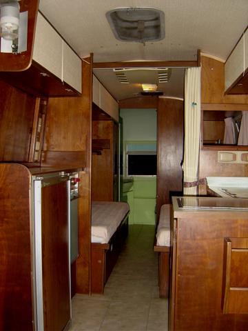 1967 airstream Overlander cherry wood interior restored