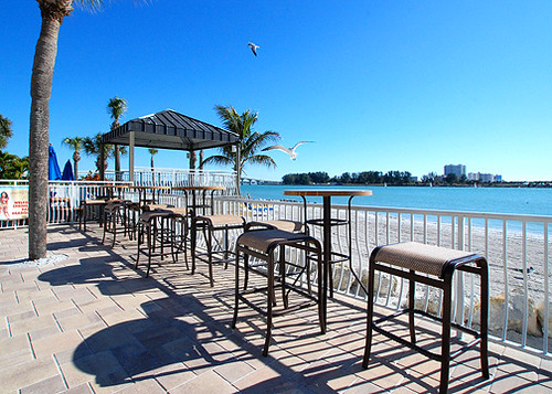 Tropix Island Tiki Bar Deck  Have a seat and a drink by