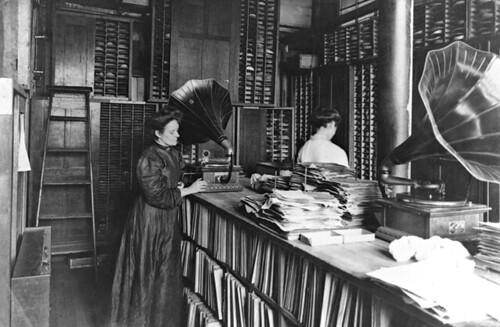 Record Matrix Room, Berliner Gramophone Company, Montreal, QC, 1910