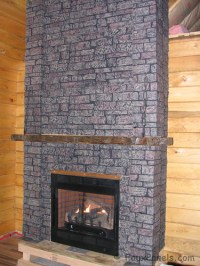 Stone Veneer Used Around Fireplace