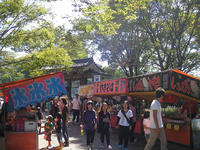 Food stalls...