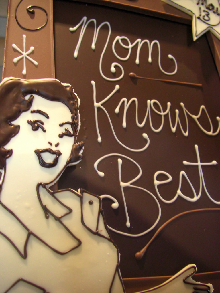 """Mom Knows Best"" Chocolate Frame"