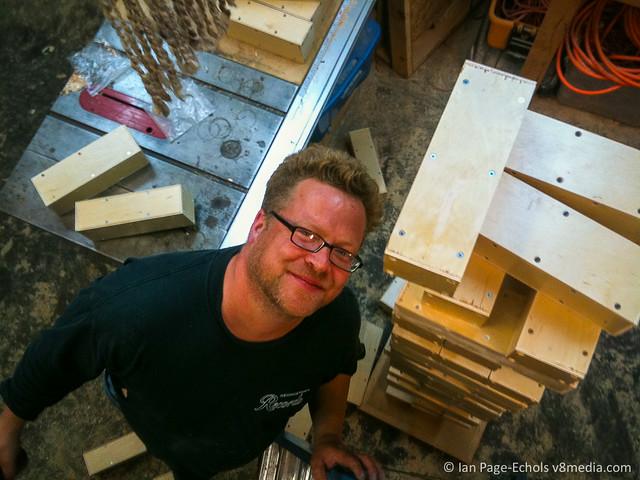 Nils With Oversized Jenga-Like Blocks
