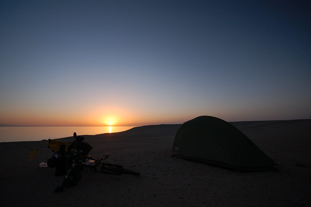 Camping on the Red Sea coast