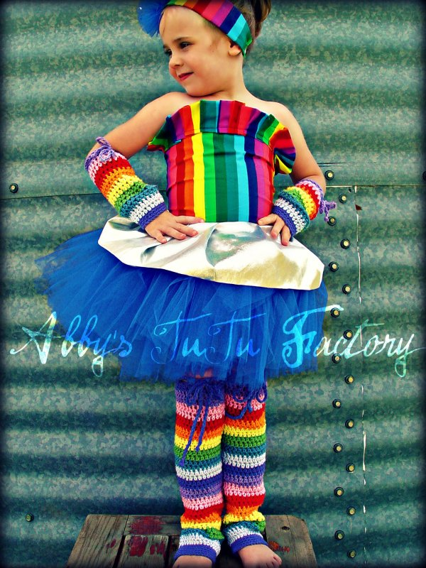Rainbow Brite Tutu Costume - Sharing