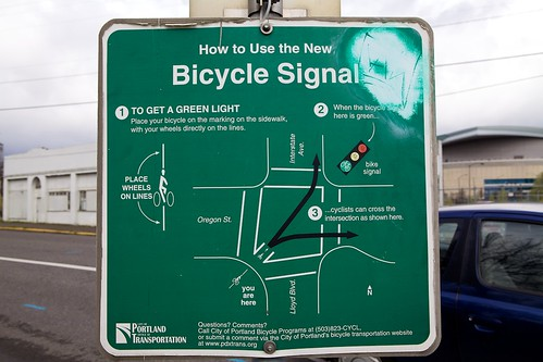 Diagonal Bike Crossing To Bridge Bike Path To Bike Lane
