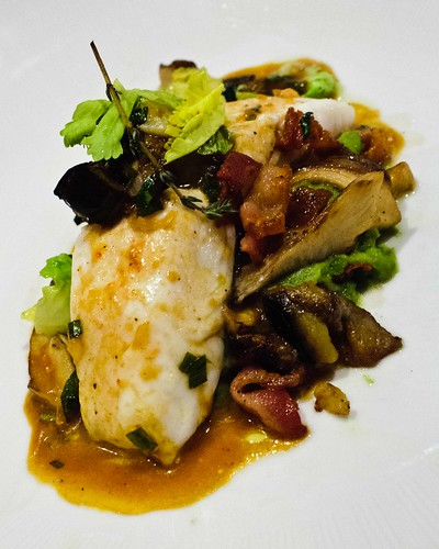 Wild Maine Skate over Mushrooms and Pureed Split Peas