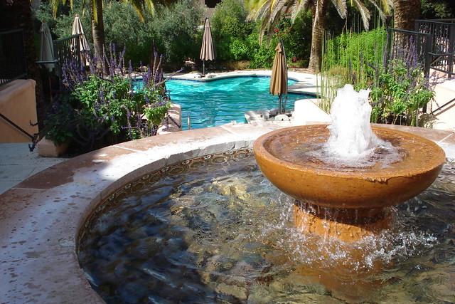 Inside the Spa.  95 degree pool