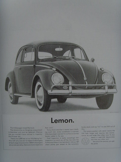 Lemon Volkswagen Ad