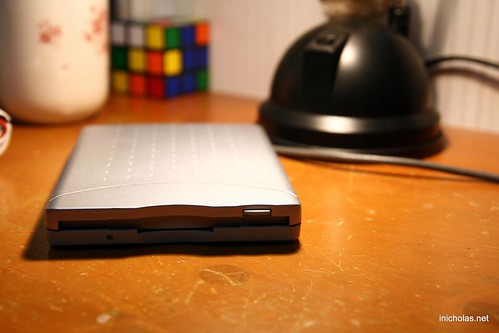 External floppy disk drive by Nicholas Chan, inicholas.net