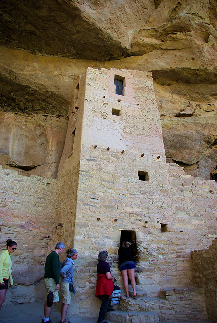 Square Tower, Cliff Palace, cliff dwelling, Mesa Verde National Park, Colorado, September 13, 2009