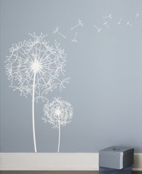 dandelion wall decal 2017 - Grasscloth Wallpaper
