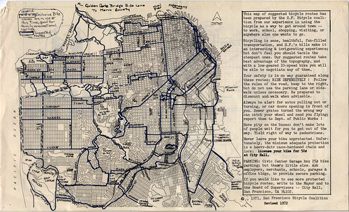 1972 SFBC Bike Route Map, inside