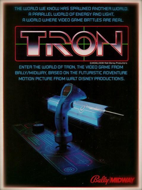 Tron Arcade Game Advertisement