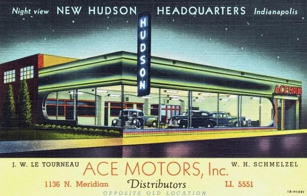 Ace Motors, Inc. Hudson - 1136 North Meridian Street, Indianapolis, Indiana U.S.A. - 1941