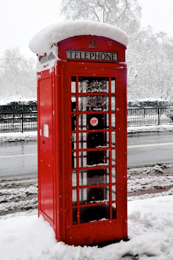 Red London Telephone Box - Sharing