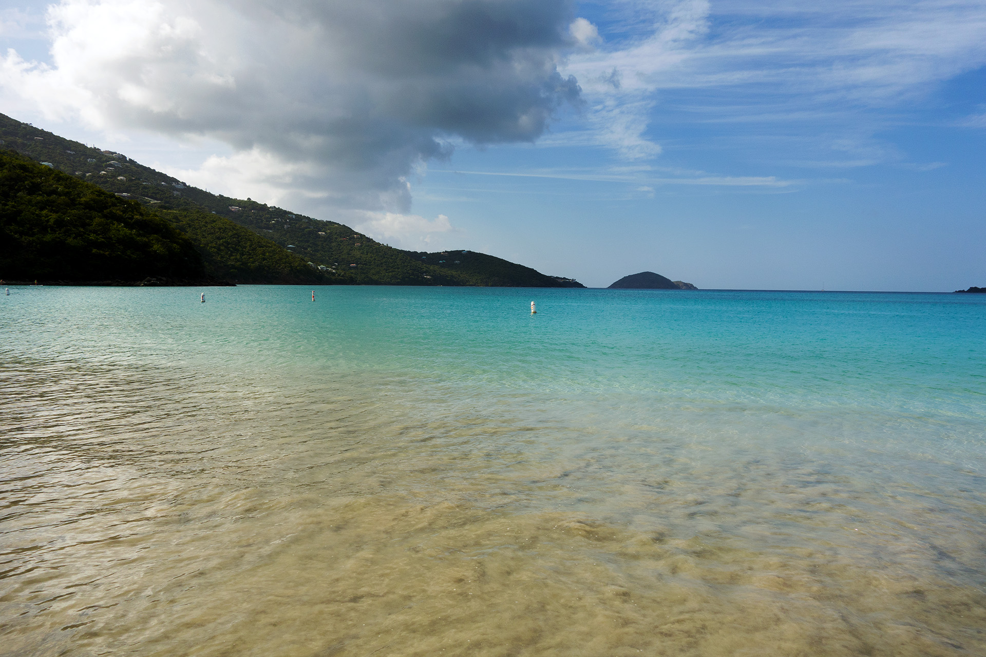 Looking out over Magens Bay.