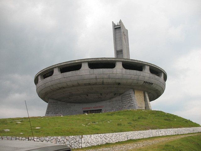 UFO building on the top of the Mountian - Buzludzha