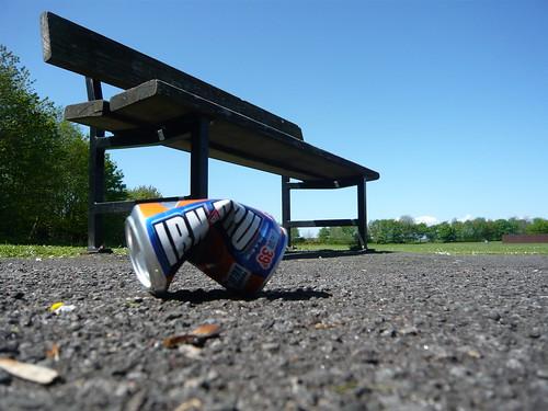 Park Bench Discards Irn Bru