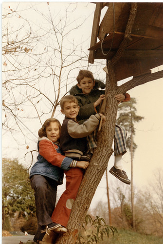 First treehouse, Arlington, November 1975