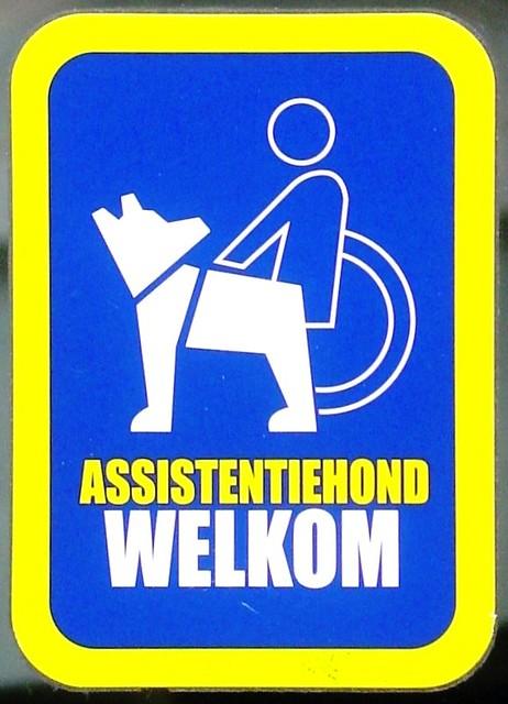 Assistance Dog Welcome Sign  Assistentiehond Welkom  Flickr