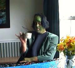 Domesticated Frankenstein Sips Tea by fallingwater123