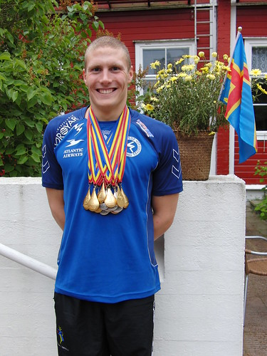 Pál Joensen with his Åland 2009 medals