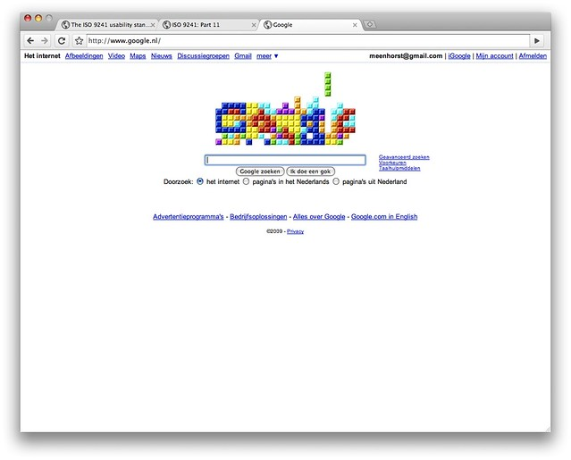 Google Tetris Doodle Flickr Photo Sharing