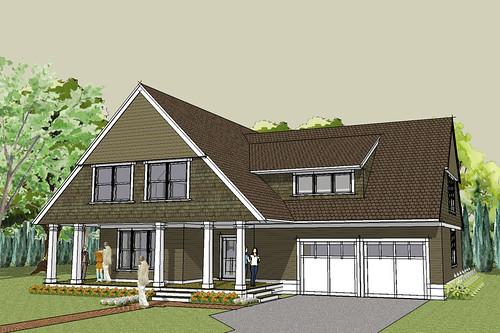 Afton Bungalow House Plan Exterior Rendering