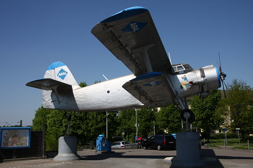 AN-2 at a fuel station in Leverkusen
