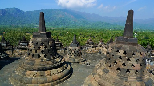 view from the top (Borobudur)